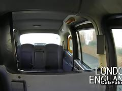 British lesbian amateurs licking in fake taxi