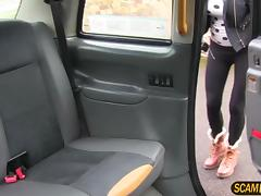 Gorgeous Jordanna sucks and fucks in the backseat of the cab
