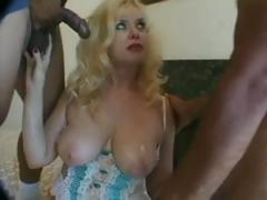 Two guys about tale of a MILF and double team her ass