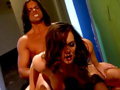 Ardent doggystyle pounding with flabby-boobed Natasha Nice