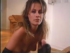 Nasty Cougar In Thong With Hot Ass Give Lusty Handjob On POV