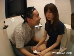 Asian teenie gets hairy cunt touched
