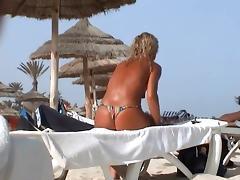 incredible beach tcheck wife tunesia topless