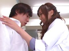 Horny Japanese nurse boycotts duty just to get fucked by a dirty minded doctor