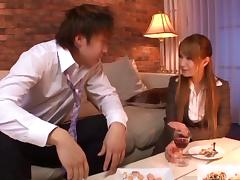 Fabulous Japanese pornstar drinks from a massive throbber in POV before having it drill her rough