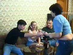 Delightful cowgirls give head then get screwed in a spicy foursome