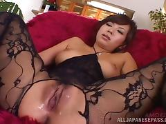 Amazing Japanese woman in crotchless bodystockings likes it nasty