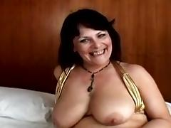 Classic Hot Curvy Brit Cougar Gets Busy