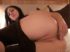 Amazing solo webcam babe using a bunny butt plug on her tight asshole