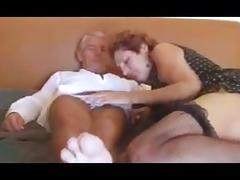 Mature couple - granny and grandpa having sex