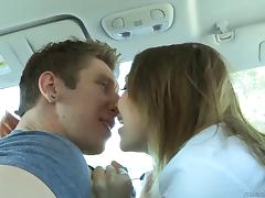 A horny couple goes on a date that ends with pussy slamming fun