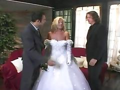 Bride fucks groom and best friend