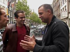 In Amsterdam's red light district he gets to fuck a hooker