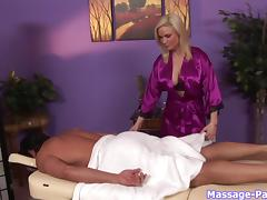 Diamond knows how to please a guy during an erotic massage