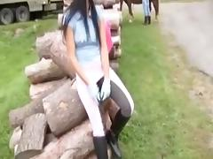 Beautiful Country Girl is a Semen Target