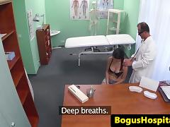 Fingerfucked patient swallows drs medicine