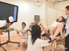 Teen asian getting pussy checked