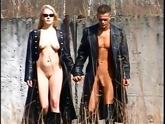 Compilation of Ladies in Full Length Leather Coats