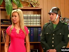 Britney Amber and Spencer Scott are hot blonde coeds