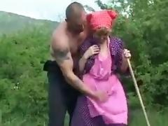 junior boy fucks old lady outdoors