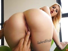 Big dick stretches out the asshole of a sweet blonde girl