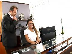 Hottest secretary slut ever fucked by the horny boss