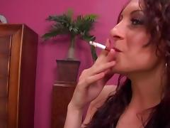 Slut puts out her cigarette before she gets fucked hardcore
