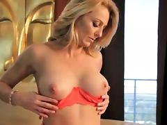 Stunning blonde MILF gets licked out and fucked good