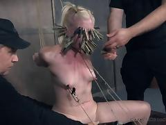 Cute slave Dresden endures her master's kinky games