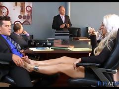 Blonde Slut in the Meeting Room