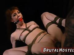 Rough anal creampie and cage bondage girl first time Sexy yo