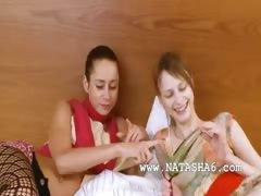 Two estonian chicks enjoy threesome