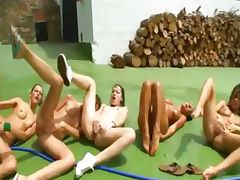 Five naked teenies whole diesel team