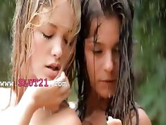 smart girls in the rain
