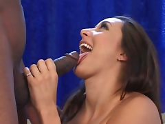 Monster black cock fucking alluring brunette slut