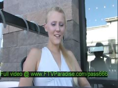 Liz gorgeous blonde slut in the restaurant talking
