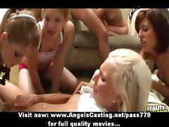 Boys and girls having an orgy