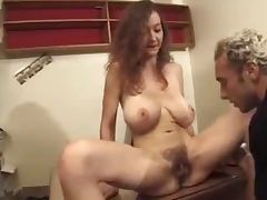 Hairy French Mom Perfect Saggies