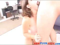 Amateur bizarre fatty gets anal and swallows jizz