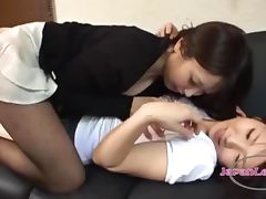 Asian Girl Kissing Getting Her Nipples Sucked Armpit Licked On The Couch In The Sitting Roo