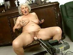 Granny like fuck machine
