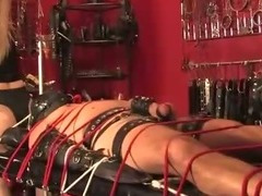 Domina feeds sub piss before zapping him