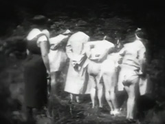 Horny Mademoiselles get Spanked in Woods 1930