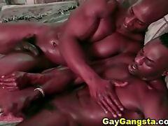 Big black muscular gay partners