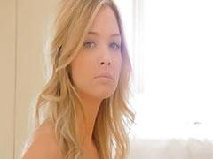 Soft strip of unique blonde babe