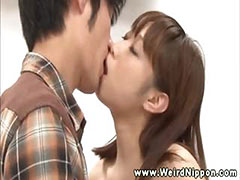 Horny asian babe getting pussy fucked and cant get enough