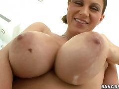 Huge Milky Tits Slut Sara Stone and Blowjob and Fucking