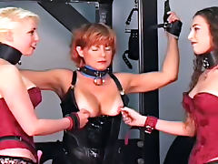 Homemade BDSM with several submissive cuties