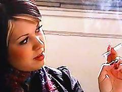 She looks so pretty smoking cigarette