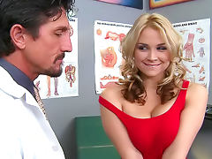 Hot Sarah Vandella is satisfying her gorgeous doctor